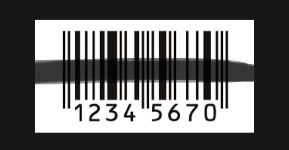 値札のバーコードが消されている商品