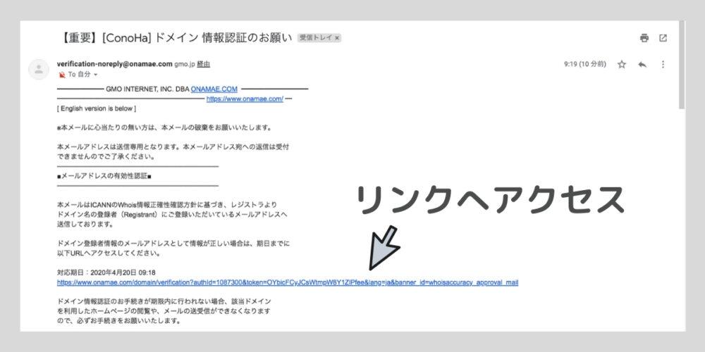 ドメイン認証メール