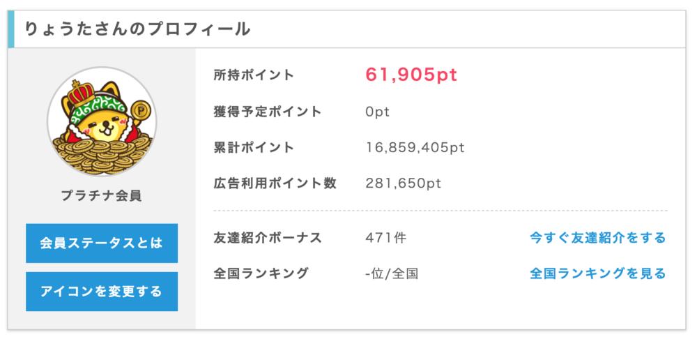 ポイ活で160万円稼いだ画像
